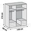 Drehtürenschrank Level 36a 150cm Prosecco/Weiß - Eichefarben, MODERN, Holzwerkstoff (150/216/58cm)