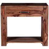 Beistelltisch Jedula B: 90 cm Echtholz - Naturfarben, Basics, Holz (90/78/40cm)