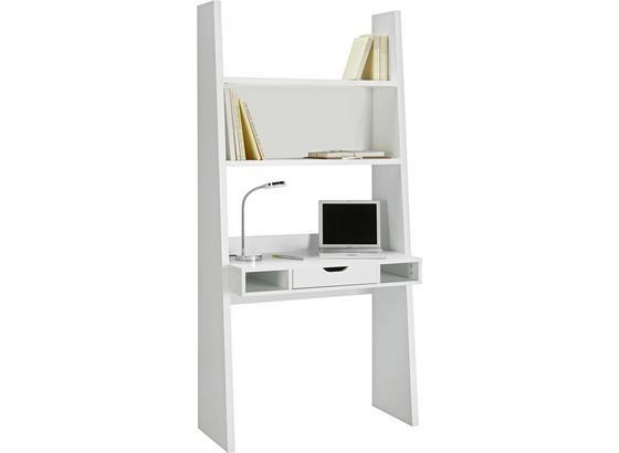 PÍSACÍ STÔL PISA BIELA - biela, Moderný, kompozitné drevo (90/186/46cm)