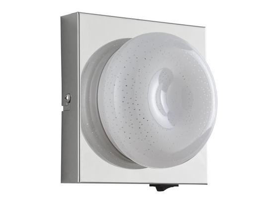 Led Nástenná Lampa Pete - chrómová, Romantický / Vidiecky, kov/plast (14/14cm) - Mömax modern living