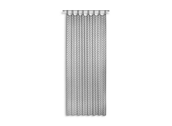 Kombivorhang Timea - Silberfarben, MODERN, Textil (140/255cm) - Luca Bessoni