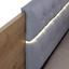 Stauraumbett Beluga - Eichefarben/Silberfarben, KONVENTIONELL, Holzwerkstoff/Textil (186/93/205cm)