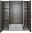 Ruhásszekrény Touch 4 - Fehér, romantikus/Landhaus, Faalapú anyag (168/196/52cm)