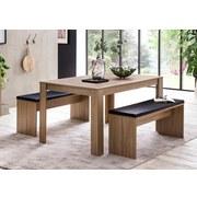 Tischgruppe Wl5.927 - Schwarz/Sonoma Eiche, Basics, Holzwerkstoff/Textil (140/76/90cm) - Carryhome