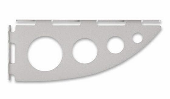 Fachbodenhalter Serenissima  -sb- - Silberfarben, Metall (18cm)