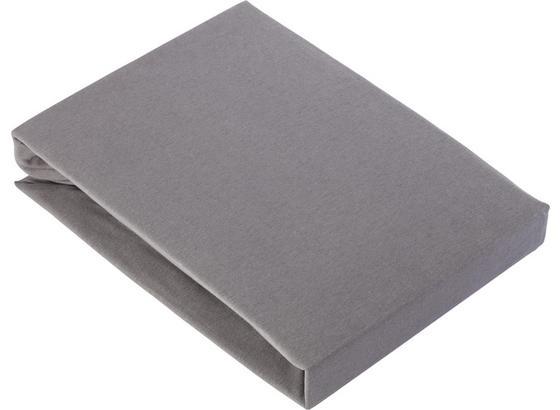 Prostěradlo Napínací Basic - šedá, textil (180/200cm) - Mömax modern living