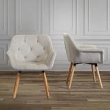Židle S Područkami Elsa - barvy buku/šampaňská, Moderní, dřevo/textil (66/81,5/60,5cm) - Modern Living