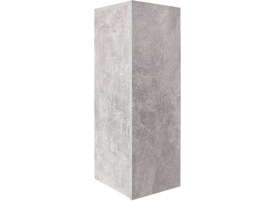 Nástenný Regál Halma Hlr01 - sivá, Moderný, kompozitné drevo (26,5/75/28cm)