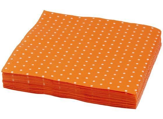 Ubrousek Mini Dots - oranžová/bílá, papír (33/33cm)