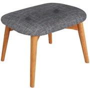 Hocker Amarillo - Eichefarben/Grau, LIFESTYLE, Textil (59/40/38cm) - Luca Bessoni