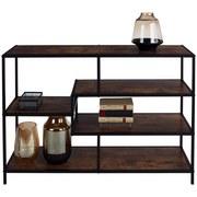 Regál Industry - prírodné farby/čierna, Moderný, kov/kompozitné drevo (114/78/33cm) - Luca Bessoni