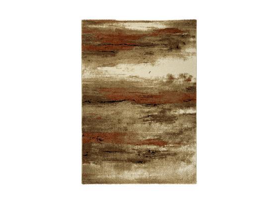 Webteppich Carlos - Braun/Orange, Basics, Textil (160/230cm) - James Wood