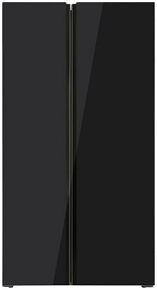Schwarzer Side-by-Side-Kühlschrank