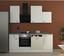Küchenblock Wito 220 cm Weiß - Edelstahlfarben/Weiß, MODERN, Holzwerkstoff (220/60cm)