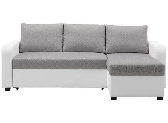 Sedacia Súprava Clint - sivá/biela, Konvenčný, textil (225/152cm) - Modern Living