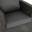 Loungegarnitur Livorno - Anthrazit/Hellgrau, MODERN, Kunststoff/Metall - Greemotion