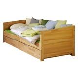 AUSZIEHBETT NINA 90X200 CM BUCHE MASSIV - Naturfarben, Design, Holz (90/200cm) - Bessagi Home