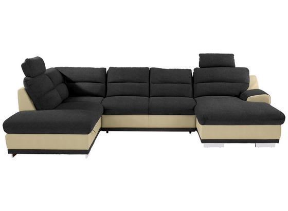 Sedacia Súprava Seaside - prírodné farby/čierna, Konvenčný, textil (218/334/165cm) - Luca Bessoni