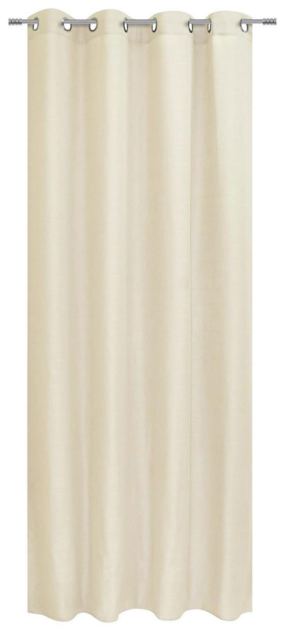 Ösenvorhang Beate - Beige, MODERN, Textil (140/245cm) - Luca Bessoni
