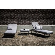 Loungegarnitur Calais 3-teilig ca. 195/272cm - Anthrazit/Grau, MODERN, Metall (195/272cm) - Greemotion