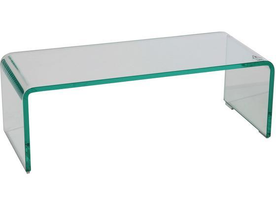 Tv Nadstavec Hagen - číre, Moderný, sklo (60/20/25cm)