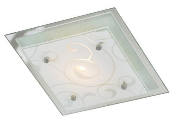 Mennyezeti Lámpa Erik - Fehér, konvencionális, Üveg/Fém (33,5/33,5/8cm)