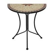 Gartentisch Amarillo Mosaik L 60 cm - Rostfarben/Beige, Basics, Stein/Metall (60/30/70cm)