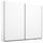 Schwebetürenschrank 226cm Belluno, Weiß Dekor - Weiß, MODERN, Holzwerkstoff (226/210/62cm)