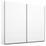 Schwebetürenschrank Belluno B:226cm Weiß Dekor - Weiß, MODERN, Holzwerkstoff (226/210/62cm)
