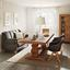 Stolička S Područkami Chill - farby dubu/sivá, drevo/textil (60/83/65cm) - Modern Living