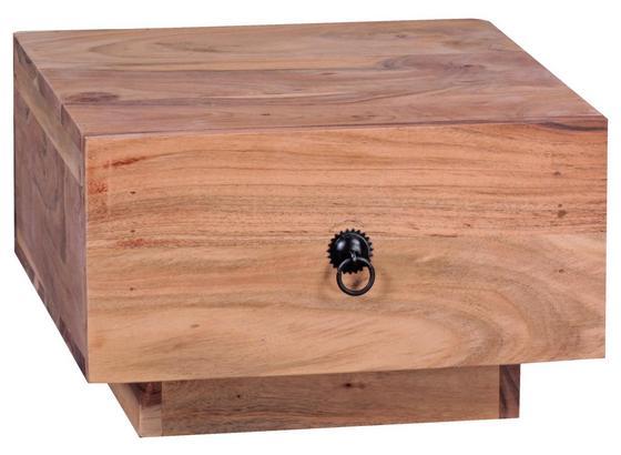 Nachtkästchen Mumbai B: ca. 40 cm - Akaziefarben, KONVENTIONELL, Holz (40/25/40cm) - Livetastic
