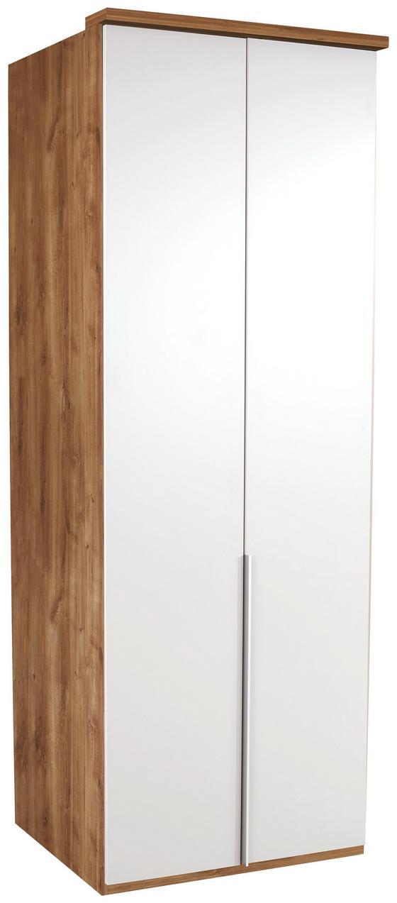 Kleiderschrank New York A - Nussbaumfarben, KONVENTIONELL, Holz/Holzwerkstoff (90/236/58cm) - Ombra