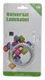 USB-ladekabel L: 100 cm - Schwarz/Weiß, Kunststoff (100cm)