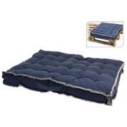 Palettenkissen Lena L/B/H: ca. 70/60/8cm - Blau, MODERN, Textil (70/60/8cm)