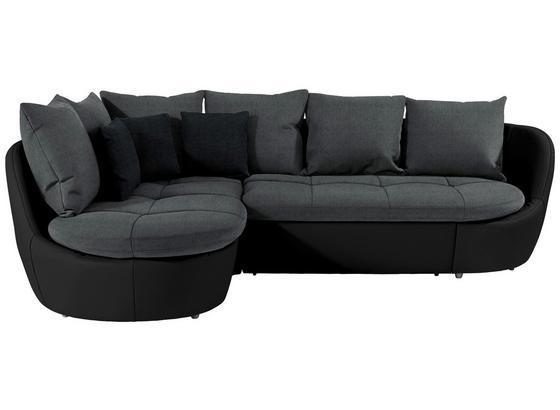 Sedacia Súprava S Rozkladom Florida - čierna/sivá, Moderný, textil (192/280cm) - Luca Bessoni