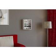 Hängevitrine Mandosa S B: 40 cm Weiß Dekor - Klar/Weiß, KONVENTIONELL, Glas/Holzwerkstoff (40/40/10cm)