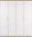 Skříň Šatní Wien - bílá/barvy dubu, Konvenční, kompozitní dřevo (181/212/56cm)
