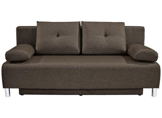 Pohovka Boxspring Ines - hnedá, Moderný, drevo/textil (203/96/102cm) - Luca Bessoni