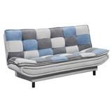 Schlafsofa mit Bettkasten Patch, Mischgewebe - Blau/Dunkelgrau, Basics, Holzwerkstoff/Textil (188/90/89cm) - MID.YOU