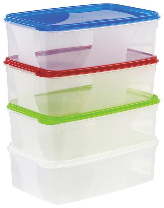 Frissentartó Doboz Műanyag - natúr színek/piros, konvencionális, műanyag (15/8/23cm)