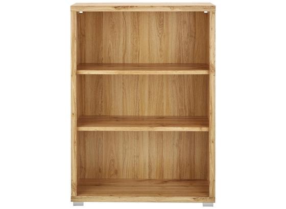 Regál Line4 - farby dubu/biela, Moderný, kompozitné drevo (80/112/36cm)