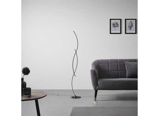 Stojacia Lampa Shara S Led - čierna, Moderný, kov (21/145/21cm) - Modern Living