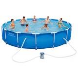 Bestway Stahlrahmen-Pool 56595 - Blau, Kunststoff/Metall (427/84cm) - BESTWAY