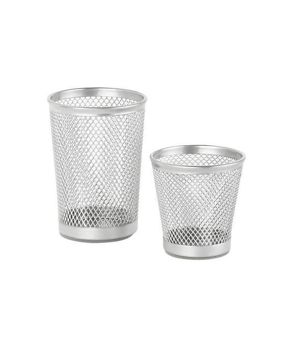 Set Kalíšků Na Tužky Mesh - barvy stříbra, Moderní, kov (7cm) - Homezone