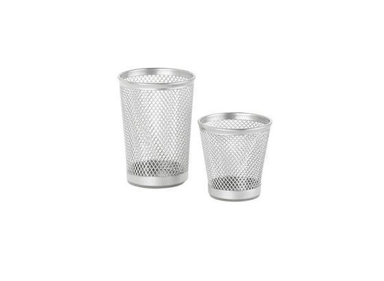 Stiftehalter Mesh - Silberfarben, Metall (7cm) - Mömax modern living