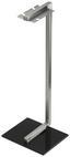Kaminbesteck Daniel 5-tlg. - Silberfarben/Schwarz, Glas/Metall (59cm)