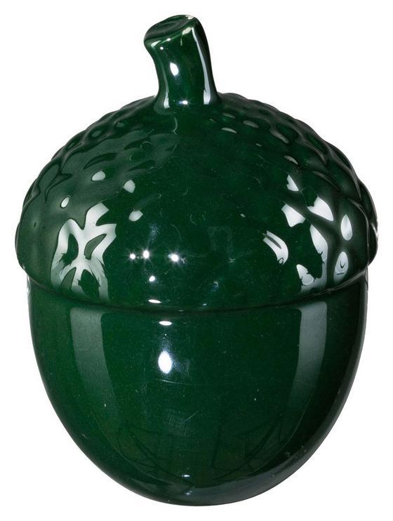 Dekofrucht H: 8 cm, Grün - Grün, MODERN, Keramik (6/6/8cm)