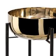 Übertopf H: 50 cm Goldfarben - Goldfarben, Trend, Metall (27/27/50cm)