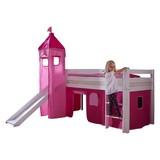Spielbett Alex 90x200 cm Buche Massiv - Pink/Rosa, Design, Holz (90/200cm)