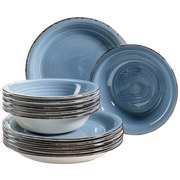 Tafelservice 12-Tlg Lumaca - Dunkelblau, Basics, Keramik